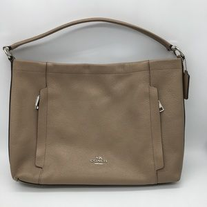 Coach Tan Leather Scout Hobo Shoulder Bag 24770